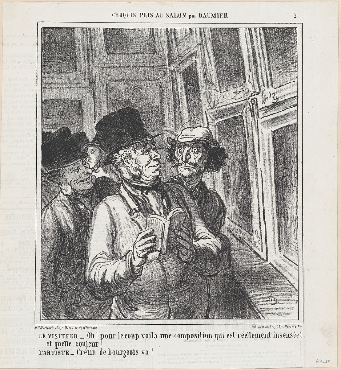 Honoré Daumier   The visitor and the artist, from 'Sketches from ...