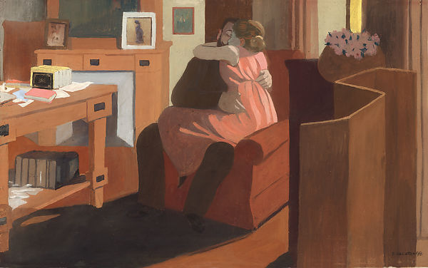 Five O'Clock or Intimacy (Cinq heures ou Intimité), Félix Vallotton (Swiss, Lausanne 1865–1925 Paris), Distemper on cardboard