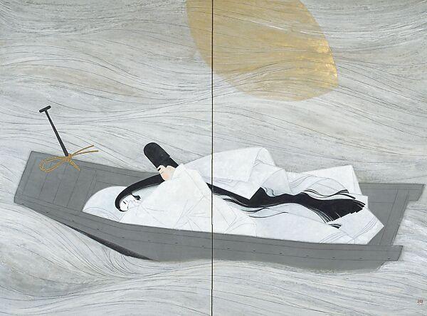 "Sata Yoshirō | ""A Boat Cast Adrift"" (Ukifune) | Japan | Shōwa period (1926–89) | The Met"
