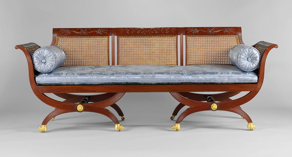 Sofa Attributed To Duncan Phyfe 1770 1854 Mahogany Tulip Poplar