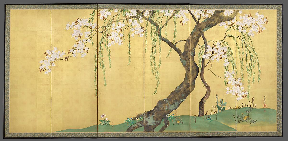 Sakai Hōitsu | Cherry and Maple Trees | Japan | Edo period (1615–1868) | The Met