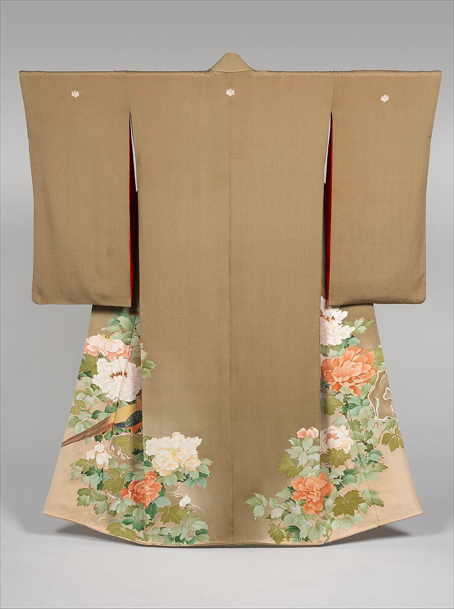 Kimono with Pheasants amid Peonies | Japan | Meiji (1868–1912)–Shōwa period (1926–89) | The Met
