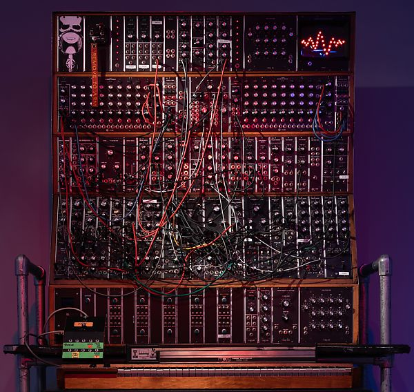 R. A. Moog Co. | Customized Moog Modular Synthesizer with keyboard, ribbon controllers, and stand | The Met