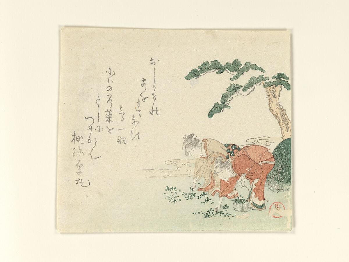 Kubo Shunman   Two Girls Collect New Year's Herbs   Japan   Edo period (1615–1868)   The Met