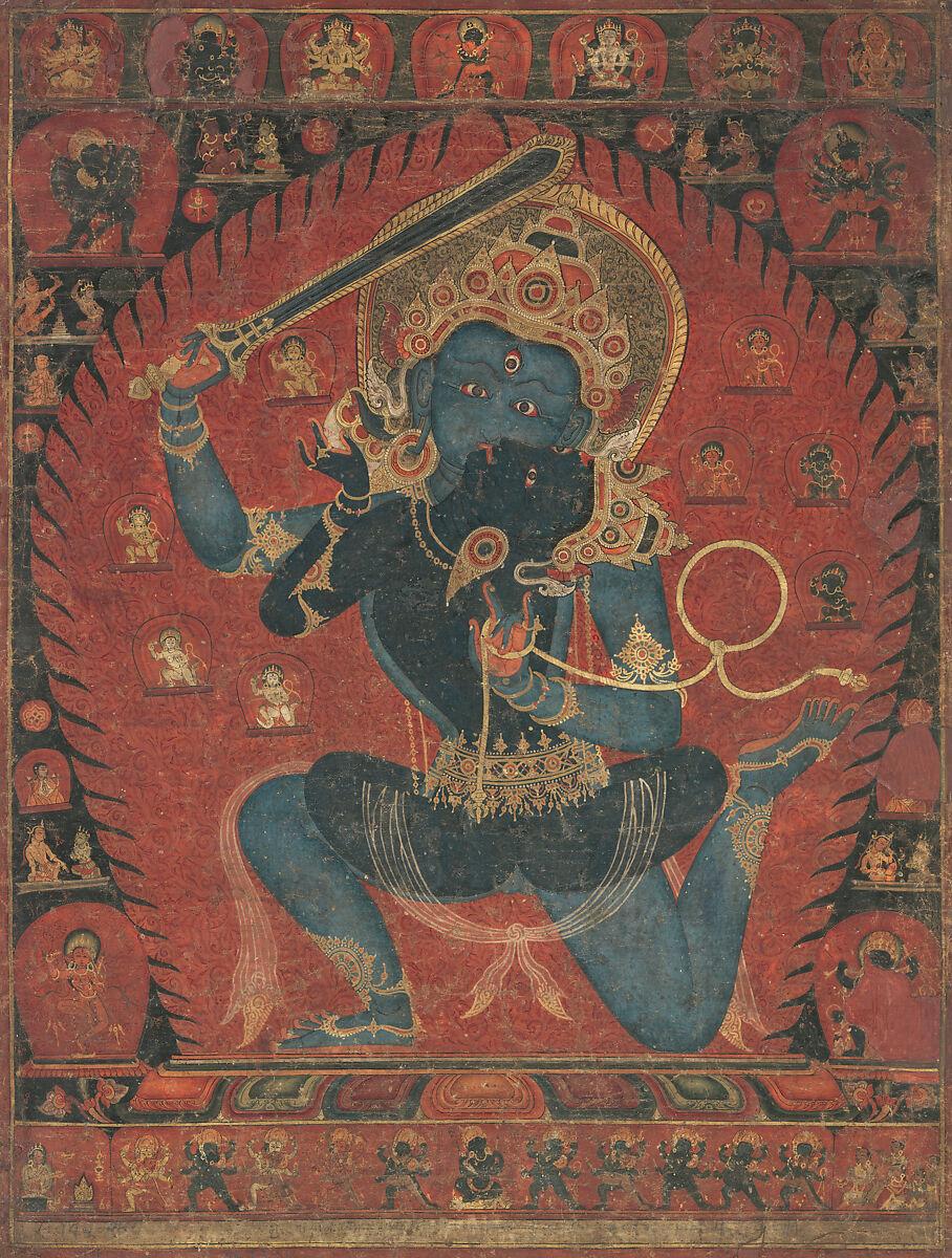 Achala with Consort Vishvavajri