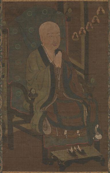 Unidentified Artist   Portrait of Shandao Dashi (Japanese: Zendō Daishi)   Japan   Nanbokuchō period (1336–92)   The Met