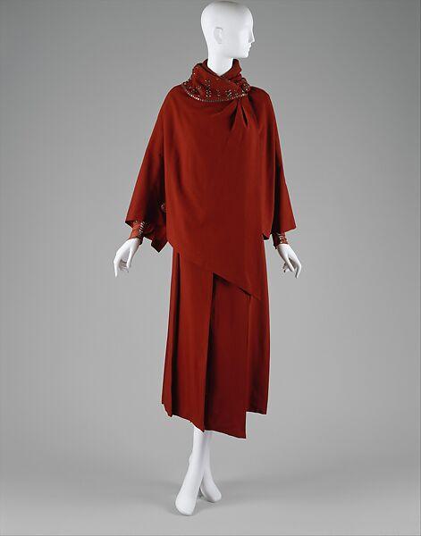 Ensemble, Jacques Doucet (French, Paris 1853–1929 Paris), wool, silk, glass, French