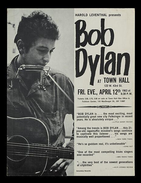 Bob Dylan | Bob Dylan at Town Hall, New York | The Met
