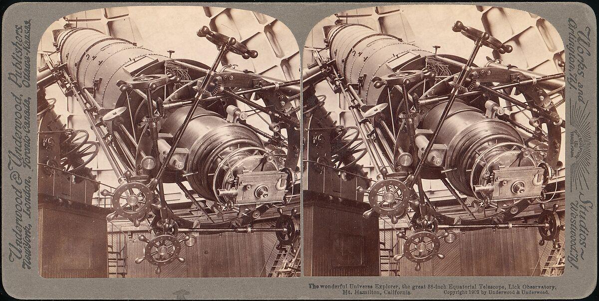 Underwood & Underwood | The Wonderful Universe Explorer, The Great 36-inch Equatorial Telescope, Lick Observatory, Mt. Hamilton, California | The Met