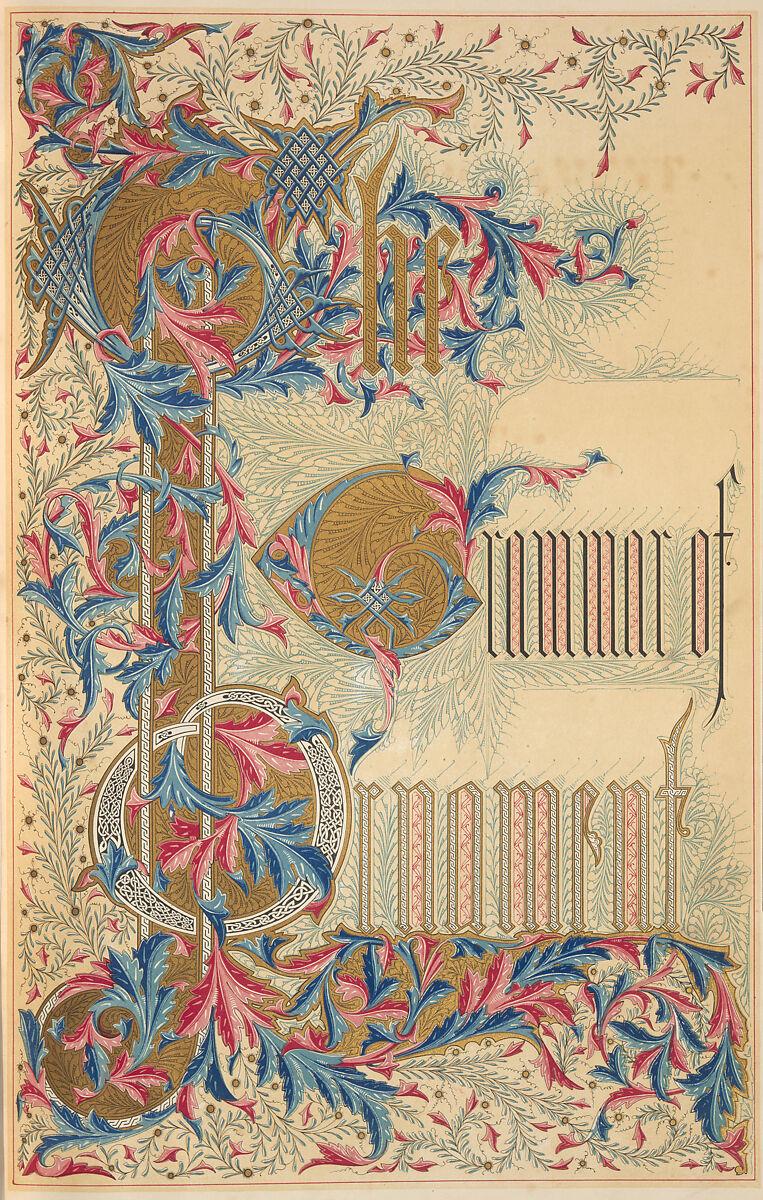 The grammar of ornament, Owen Jones (British, London 1809–1874 London)