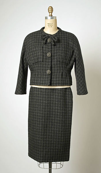 Suit, House of Balenciaga (French, founded 1937), wool, French