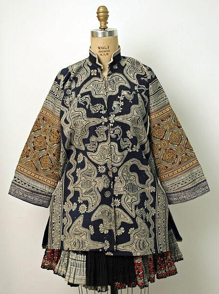 Ensemble, cotton, silk, Chinese minority (Miao-Gejia)
