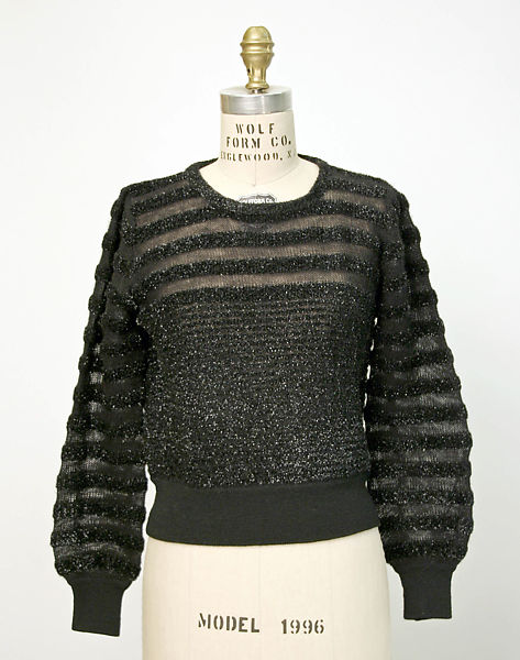 af3e2793d39 Evening sweater, late 1960s–early 1970s. Yves Saint Laurent, Paris French