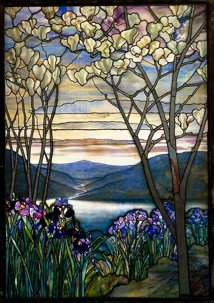 Designed By Louis Comfort Tiffany Magnolias And Irises