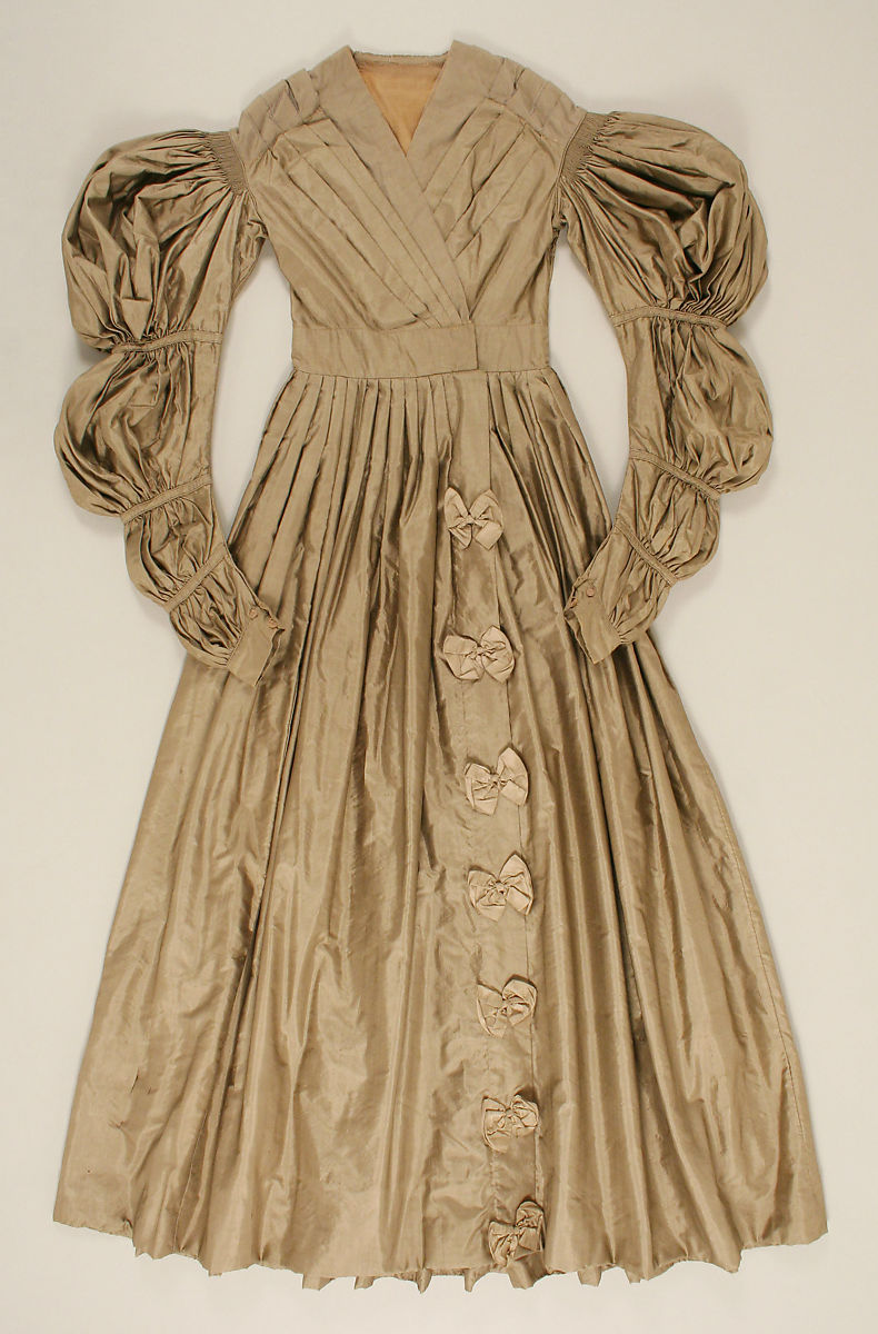 Dress, silk, American